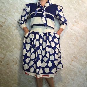 Vintage Jaymee  Papell 3 piece skirt set medium